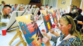 It was a full house at the Fireside Lounge of the Ash Grove Inn in Barry's Bay as Ottawa Valley artist Linda Sorensen welcomed adult learners to Paint Parties over the weekend, complete with aperitifs and wine. More on page 2. SARAH VANCE Special to This Week