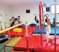 Bancroft Gems Gymnastics students practice their skills as part of the new weekly open gym format, offered every Saturday afternoon to members and non-members alike for a small participation fee. Photo by SARAH VANCE Special to This Week