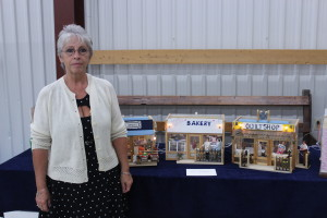 Bev Sleeper, top right, was also a guest of the show this year. She showed off her incredibly detailed miniature shops which she started crafting as a hobby.